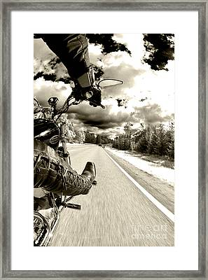 Ride To Live Framed Print by Micah May