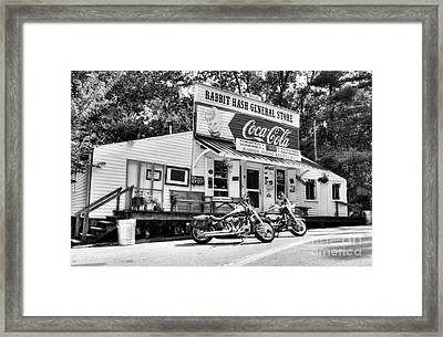 Ride To Rabbit Hash Bw Framed Print by Mel Steinhauer