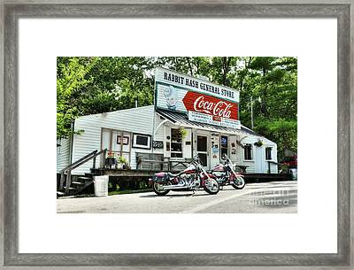 Ride To Rabbit Hash Framed Print by Mel Steinhauer