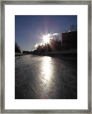 Rideau Canal At Sunrise Framed Print by Richard Mitchell