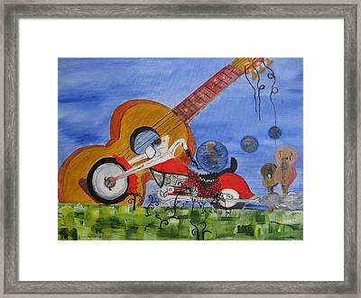Rider Framed Print by Antonio Raul