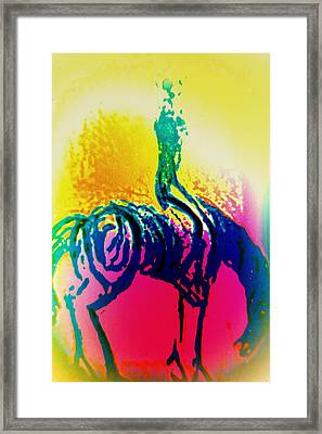 You May Think That You Don't Need Anyone But You Never Ride Alone  Framed Print by Hilde Widerberg