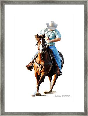 Rider Framed Print by Don Durfee