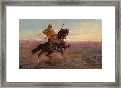 Rider In The Desert Framed Print