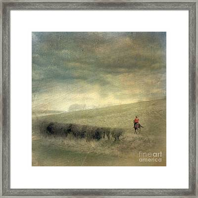 Rider In The Storm Framed Print