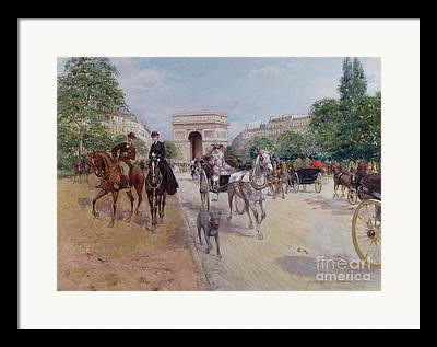 Now The Avenue Foch Framed Prints