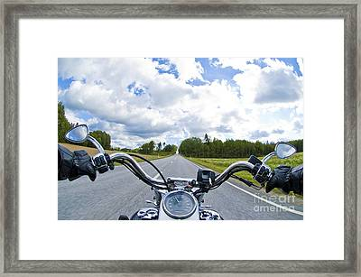 Riders Eye View Framed Print
