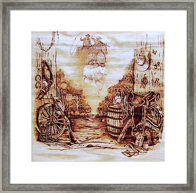 Riders In The Sky Framed Print by Danette Smith