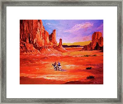 Riders In The Valley Of The Giants Framed Print