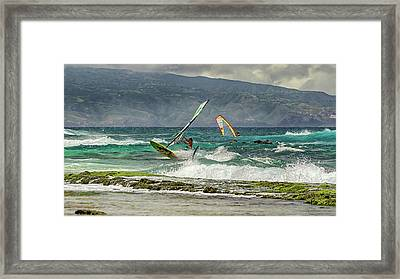 Framed Print featuring the photograph Riders On The Storm by Susan Rissi Tregoning