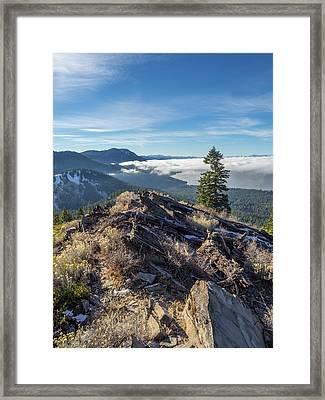 Ridge Inversion Framed Print