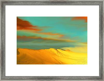 Framed Print featuring the digital art Ridge by Kerry Beverly