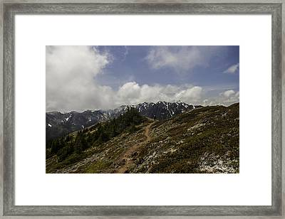 Ridge Walking In The Olympic Mountains Framed Print