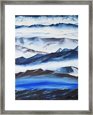 Ridgelines Framed Print