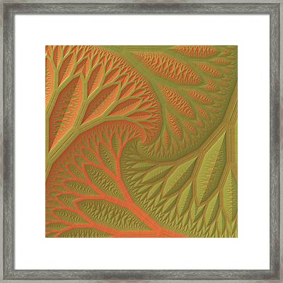 Framed Print featuring the digital art Ridges And Valleys by Lyle Hatch