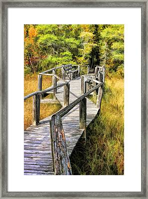 Ridges Sanctuary Crossing Framed Print by Christopher Arndt