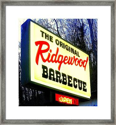 Ridgewood Barbecue Framed Print by Gail Oliver