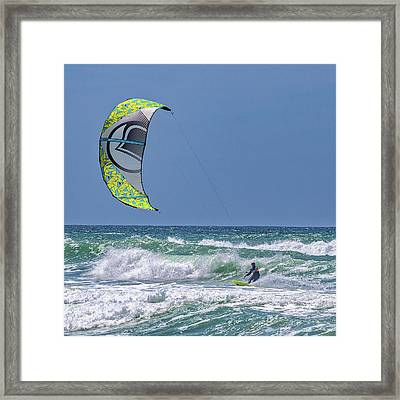 Ridin The Wind Framed Print by Peter Tellone