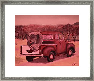 Ridin' With Razorbacks 3 Framed Print