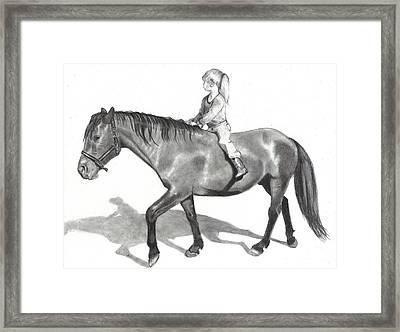Riding Bareback Framed Print by Joyce Geleynse