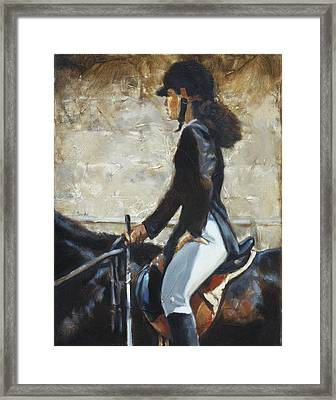 Riding English Framed Print