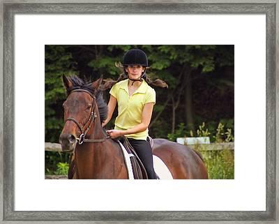 Riding Grace Framed Print by JAMART Photography