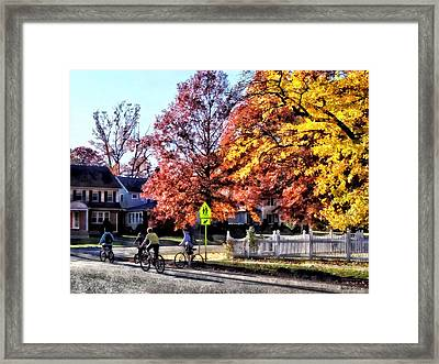 Riding Home From School Framed Print