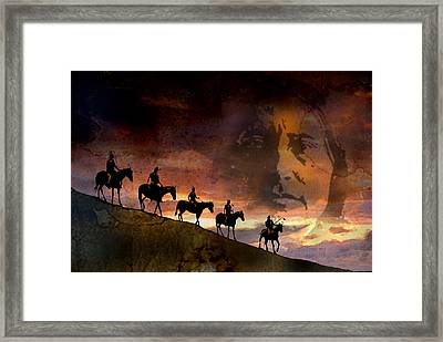 Riding Into Eternity Framed Print