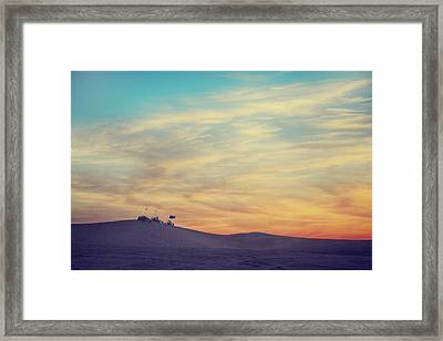 Riding Into The Sunset Framed Print by Laurie Search