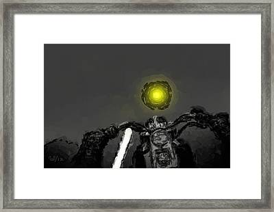 Riding Into The Sunset Framed Print by Wayne Bonney