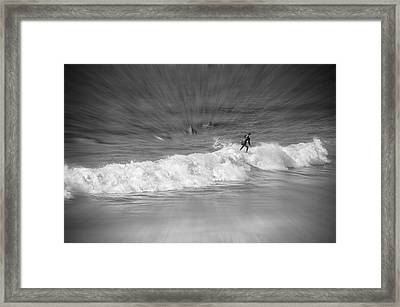 Riding It Out Framed Print