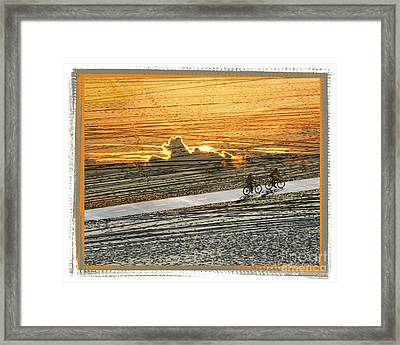 Riding Off Into The Sunset Framed Print by Chuck Brittenham