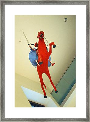 Riding On High Framed Print by Jez C Self