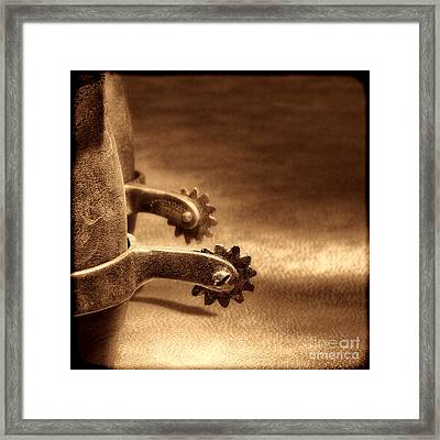 Riding Spurs Framed Print