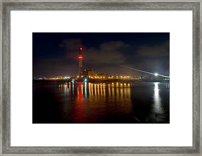 Framed Print featuring the photograph Riding Station, Tel Aviv, Water Side by Dubi Roman