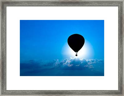 Riding The Clouds Framed Print