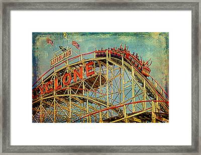 Riding The Cyclone Framed Print