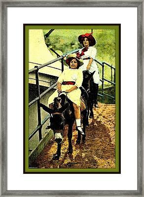 Riding The Donkeys At Coney Island, 1905 Framed Print