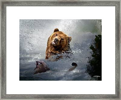 Riding The Gauntlet Framed Print by Bill Stephens