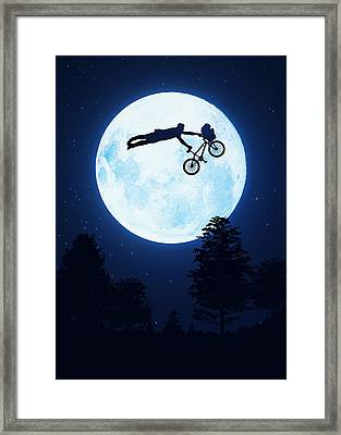 Riding The Kuwahara Bmx Like A Boss Framed Print