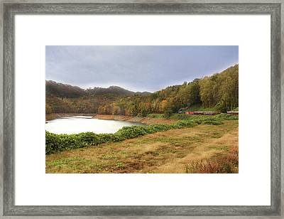Framed Print featuring the digital art Riding The Rails by Sharon Batdorf