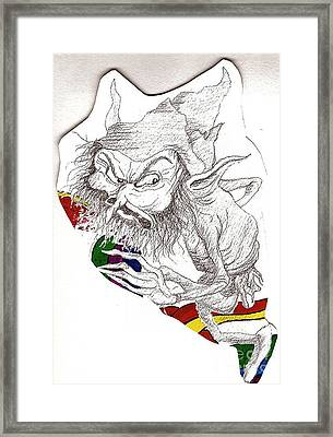 Riding The Rainbow Framed Print