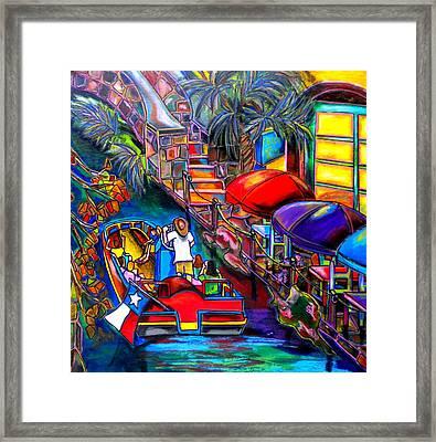 Riding The River Framed Print by Patti Schermerhorn
