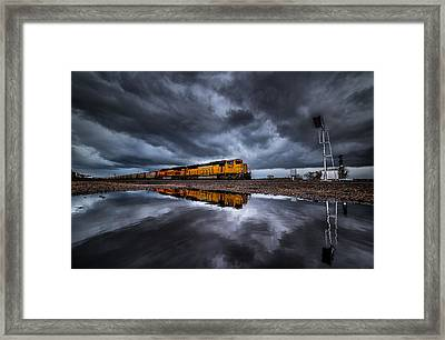 Riding The Storm Out Framed Print by Darren  White