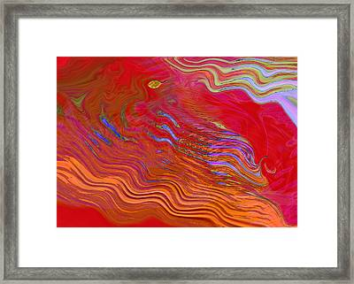 Riding The Vapours Framed Print by Mathilde Vhargon