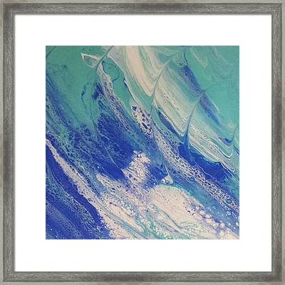 Riding The Wave Framed Print