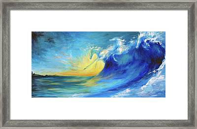 Riding The Waves Framed Print by Dina Dargo