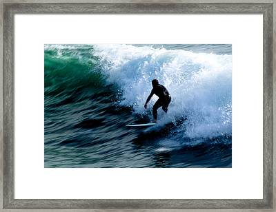 Riding The Waves Framed Print by Magdalena Green