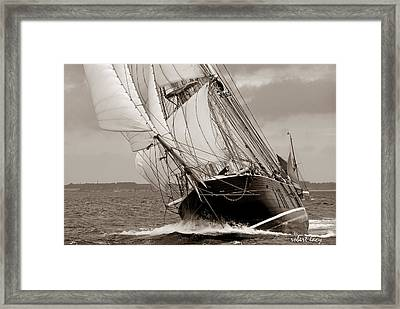 Riding The Wind -sepia Framed Print