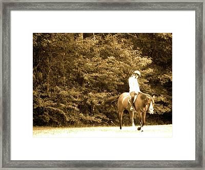 Riding Through Framed Print